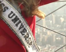Miss Universe Visits Empire State Building