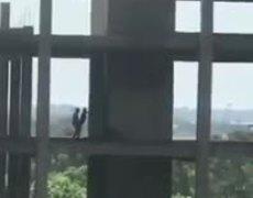 Captan a pareja teniendo relaciones en lo alto de edificio