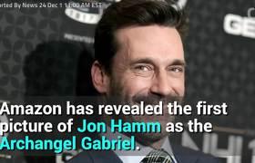First Look At Jon Hamm As The Archangel Gabriel