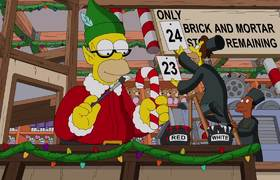Christmas Episode Opening Titles Couch Gag - THE SIMPSONS