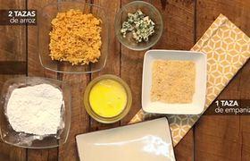 Bolitas de arroz con mostaza dulce