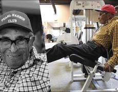 Tiene 105 años y aún va al gimnasio