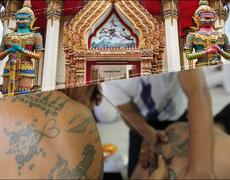 El extraño ritual de los tatuajes mágicos