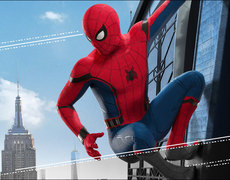 Spider-Man Drops In At Starbucks