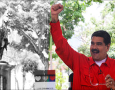 Venezuelan President Covers Famous