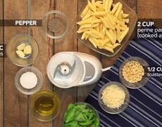 Recipe for Penne Pasta with Pesto Sauce
