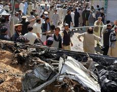 Blast in Pakistan Kills Tens, War Continues