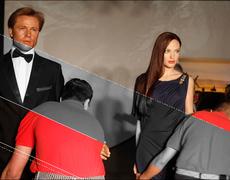 Brad y Angelina se separan hasta en cera