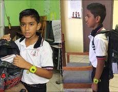 Niño mexicano inventa mochila antibalas