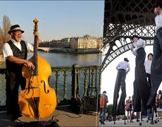 Teatro callejero impresiona a turistas en París