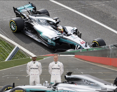 The New Mercedes W08 Formula 1 Car