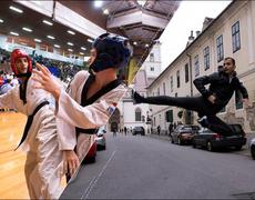An Iranian refugee triumphs in Taekwondo.