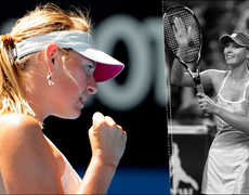 What's Maria Sharapova doing out of the fields?