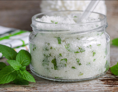Homemade Peppermint And Lavender Oil Scrub