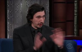 The Late Show: Adam Driver And Stephen Act Out A 'Star Wars' Scene Using Dolls