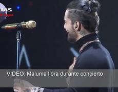 Maluma llora durante concierto