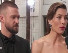 Justin Timberlake, Jessica Biel & Seth Meyers Golden Globes Red Carpet Interview