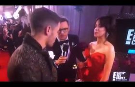 Nick Jonas and Camila Cabello on the red carpet Grammys 2018