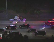 Pilot's Emergency Landing on Highway