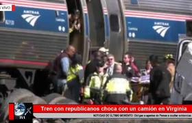 Tren con legisladores republicanos choca contra un camión en Virginia