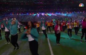 Ryan McKenna at Super Bowl LII halftime show