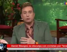 Daniel Bisogno se disculpa con ciclistas por 'broma'