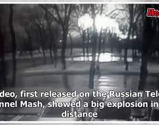 CCTV footage shows moment of Russian plane crash