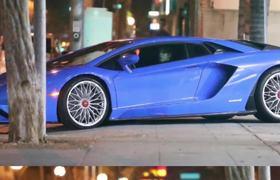 Justin Bieber New Car Blue Lamborghini 2018