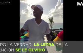 Will Smith probó que sí sabe español y cantó