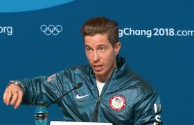 Shaun White reacts to 3rd Olympic gold
