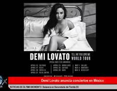 Demi Lovato anuncia conciertos en México