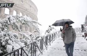 Rome was surprised by snowfall