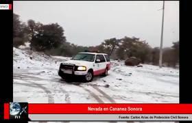 NEVADA CUBRE DE BLANCO CANANEA SONORA