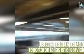 Fallas en L12 del Metro provocan retrasos de 1 hora
