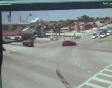 #CCTV: Shocking moment Florida bridge collapses on traffic