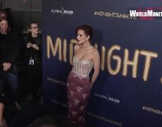 Bella Thorne flashes cleavage - and some unshaven armpit hair - in daring bustier top at premiere of Midnight Sun