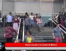 Sismo 5.5 grados sacude a la CIudad de México