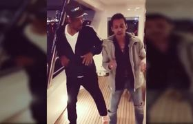 Will Smith surprises dancing salsa with Marc Anthony