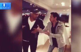 Will Smith tomando clases de salsa con Marc Anthony