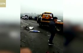 Pileup on Chinese motorway injures 11