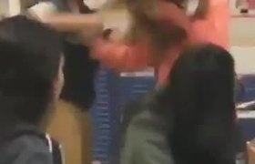fight between girls at North Miami Beach high school