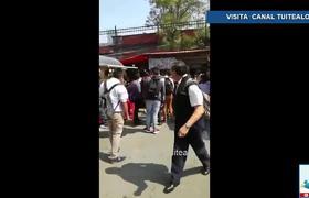 Presuntos estudiantes golpean a policías cerca del Metro Balderas