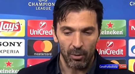 Annoyed Gianluigi Buffon after the theft of Real Madrid to Juventus in Champions