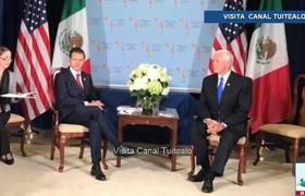 Peña Nieto se reúne con Mike Pence en Perú