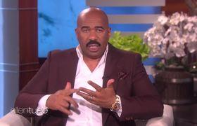 Steve Harvey Dishes - West 'Family Feud' Episode (Ellen)