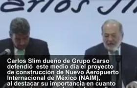 Slim defiende el proyecto del NAICM