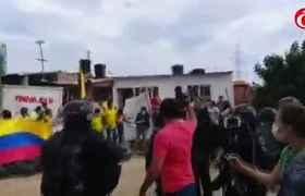 Autoridades desalojan el asentamiento Villas de Santa Marta