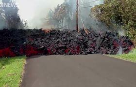 Hawaiian lava flows 'faster than a turtle'