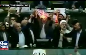 American flag burned in Iranian parliament