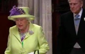 La llegada de la Reina Elizabeth II a la Boda Real